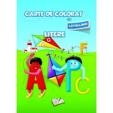Carte de colorat cu abtibilduri. Litere (Ars Libri)
