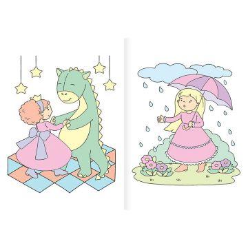 Lumea prințeselor - Să colorăm cu apă! (Kreativ)