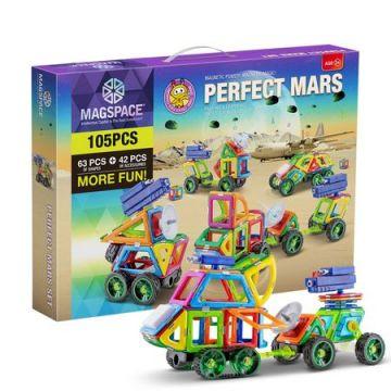 Magspace 105 Piese – Perfect Mars - Joc Magnetic Educativ de Constructie 3D
