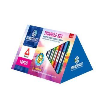 Magspace 10 Piese - Triangle Set - Joc Magnetic Educativ de Constructie 3D