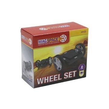 Magspace 2 Piese – Wheel Set – Platforma Roti cu Magnet de Constructie 3D