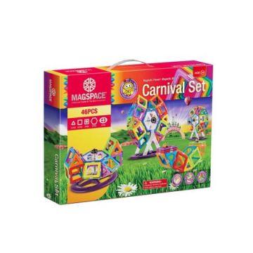 Magspace 46 Piese – Carnival Set - Joc Magnetic Educativ de Constructie 3D