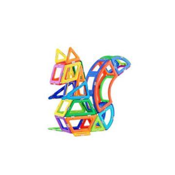 Magspace 90 Piese - Ever Changing Zoo - Joc Magnetic Educativ de Constructie 3D