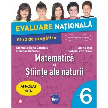 Evaluare națională. Matematică și științe ale naturii. Ghid de pregătire. Clasa a VI-a (Litera)