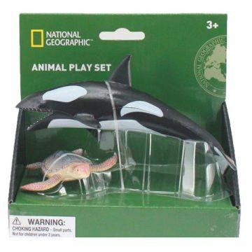 National Geographic Set 2 figurine - Balena si Broasca Testoasa