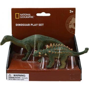 National Geographic Set 2 figurine - Iguanodon si Ankylosaurus