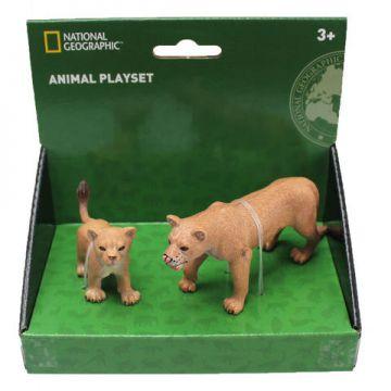 National Geographic Set 2 figurine - Leoaica si puiul