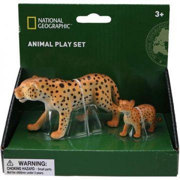 National Geographic Set 2 figurine - Leopardul si puiul