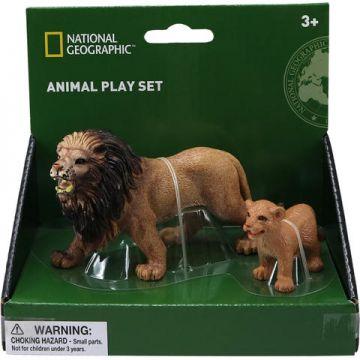 National Geographic Set 2 figurine - Leul si puiul