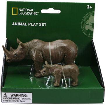 National Geographic Set 2 figurine - Rinocerul si puiul