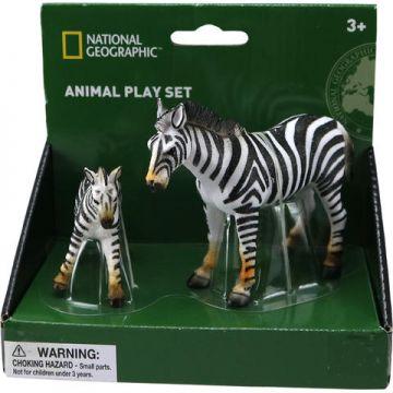 National Geographic Set 2 figurine - Zebra si puiul