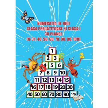 Numeratia (0-100) - Clasa pregatitoare si clasa I - 38 planse