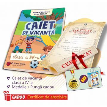 PACHET 1 PREMIERE CLASA A IV-A - CAIET VACANTA + MEDALIE (DIPLOMA CADOU)