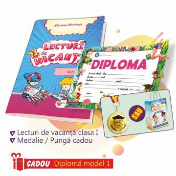 PACHET 2 PREMIERE CLASA I - LECTURI DE VACANTA + MEDALIE (DIPLOMA CADOU)