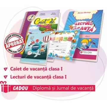 PACHET 3 PREMIERE CLASA I - CAIET DE VACANTA + LECTURI DE VACANTA (DIPLOMA + JURNALUL VACANTEI MELE CADOU)