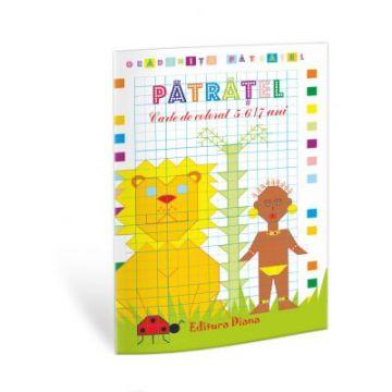 Patratel - carte de colorat, 5-6 ani (Diana)