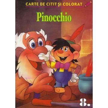Pinocchio - carte de colorat si citit (Aquila)
