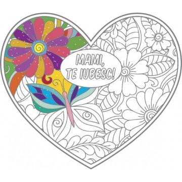 Mami, te iubesc! - poster de colorat (Sinapsis)