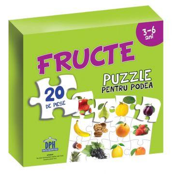 Puzzle pentru podea - FRUCTE - 3-6 ani (DPH)