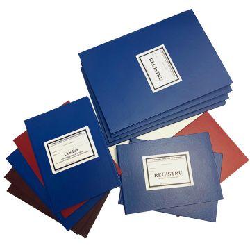 Registru matricol pentru licee, grupuri scolare, scoli de arte si meserii, anul de completare si scolile postliceale/de maiestri (format A4)- Coperta carton gros invelita cu imitatie piele de diferite culori