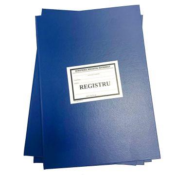 Registru matricol pentru  clasele I-VIII, pt 200 elevi (format A3)- Coperta carton gros invelita cu imitatie piele de diferite culori