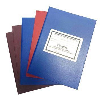 Registru pentru evidenta arhivei scolare-Coperta carton gros invelita cu imitatie piele de diferite culori