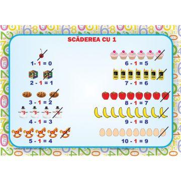 Set 8 planse. Scaderea 0-10 (Ars Libri)