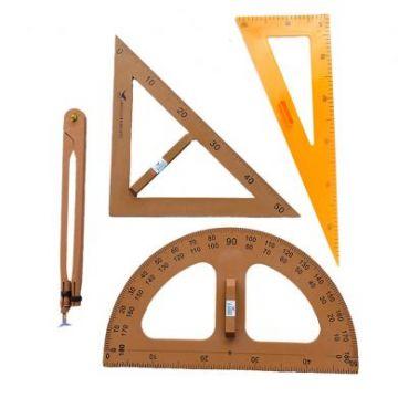 Trusa geometrie pentru tabla scolara creta
