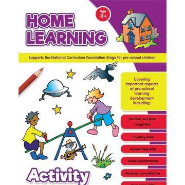 Learning at Home Activity Books, Caiet cu activitati de invatare a limbii engleze pentru prescolari! (3092/LHAB1-4)