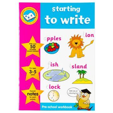 Key Stage Sticker Work Books, Caiet de activitati cu autocolante, Scrierea (3-5 ani) (375/KSWB1-4)