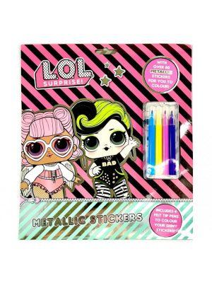 LOL Surprise Metallic Sticker Set- set de colorat si cu autocolante (3194/LOLME)